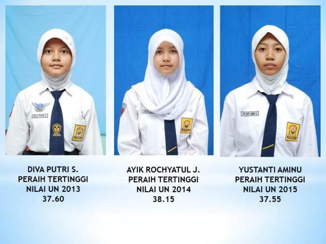 3 SRIKANDI SMP 1 Dolopo peraih nilai UN Tertinggi 2013-2015 yang juga siswa aktif Delta Study Center Dolopo